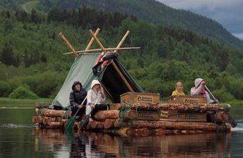 Timmerflotte på Klarälven